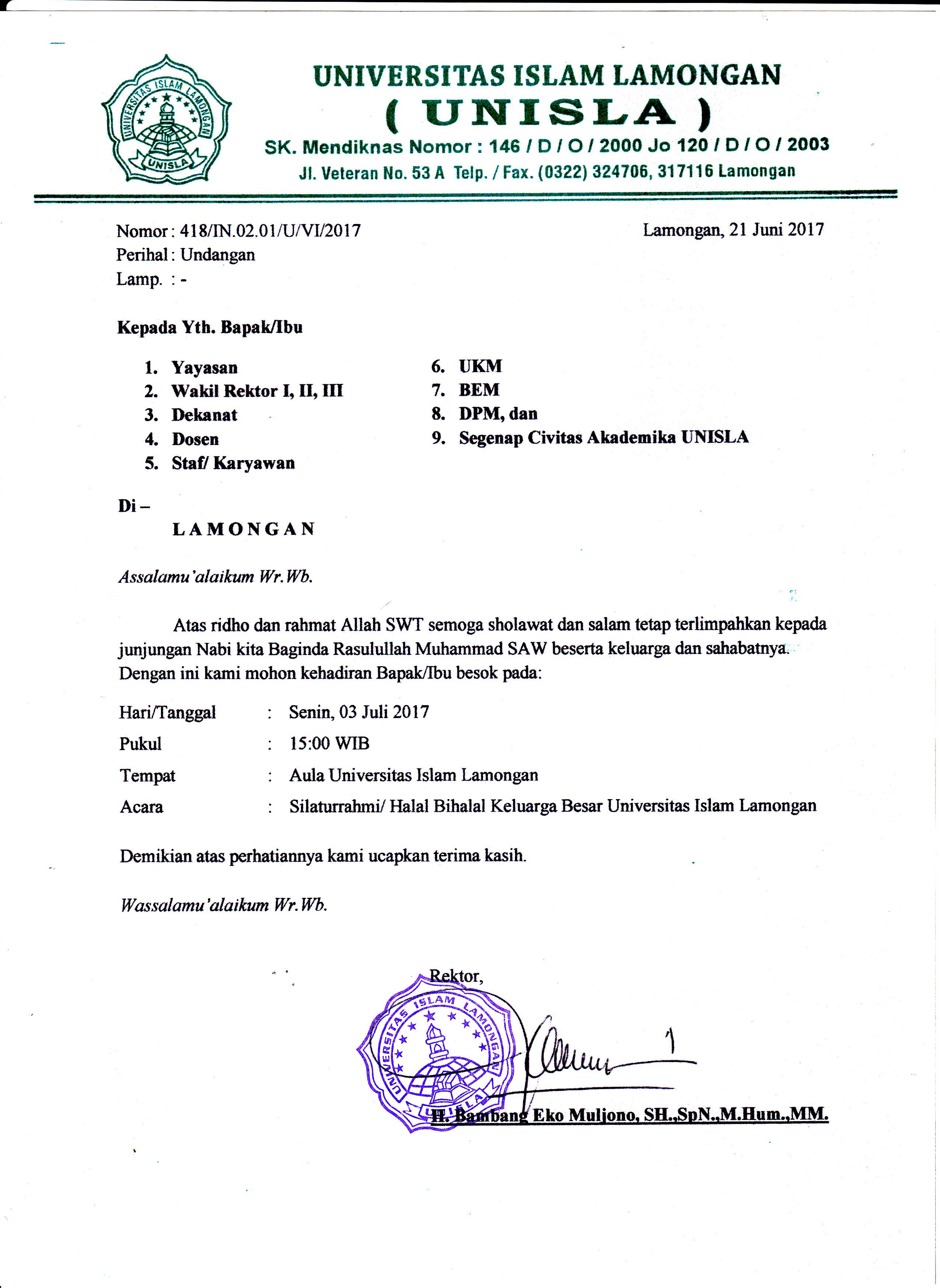 Halal bi Halah 2017